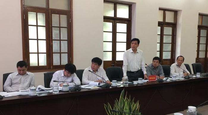 Thứ trưởng Nguyễn Ngọc Đông tại buổi làm việc với lãnh đạo Hải Phòng.